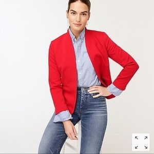 J.Crew Red Puff Shoulder Blazer